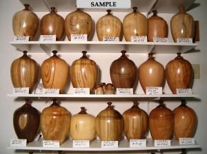 wood turned urns