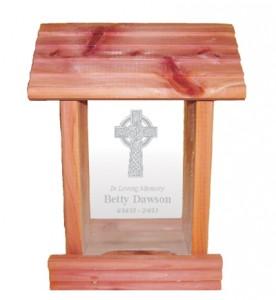 Celtic cross memorial bird feeder