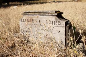 wood grave marker