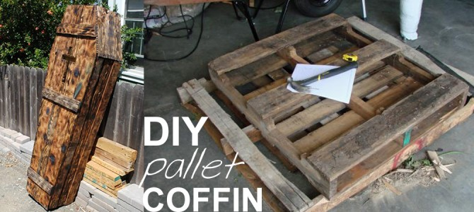 DIY Pallet Coffin Tutorial