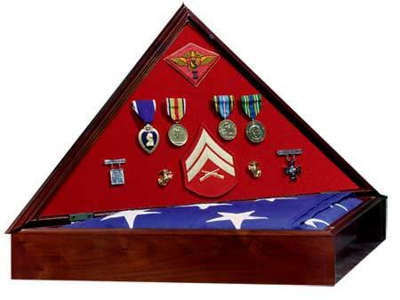 Medal Display Flag Case