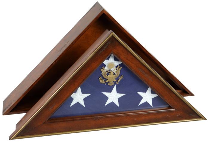Military Burial Flag Displays