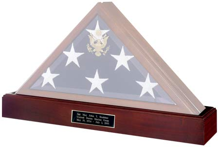 Military Burial Flag Display Cases