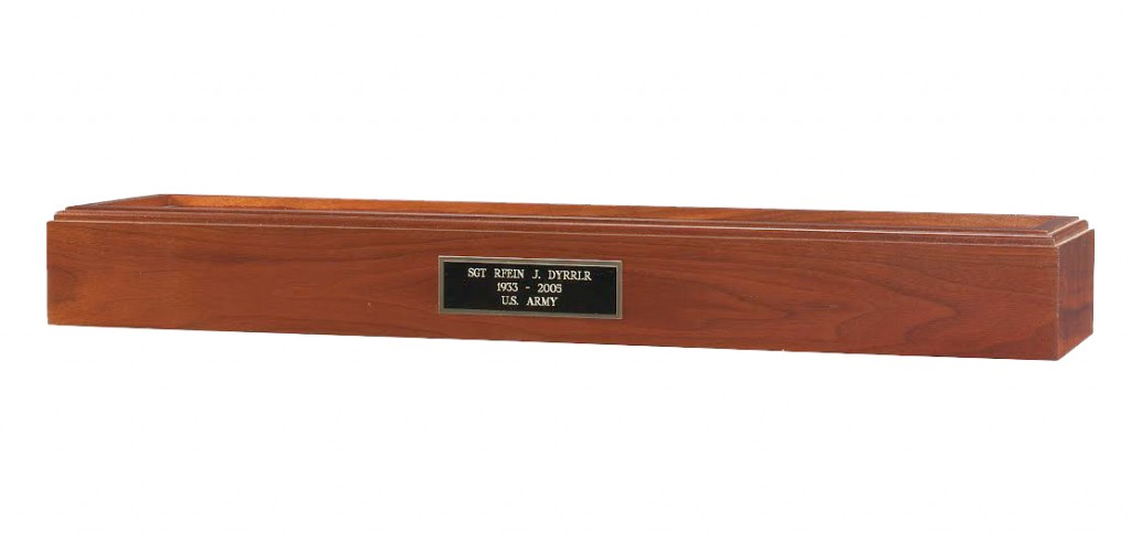 Cremation Urn Base for Military Burial Flags