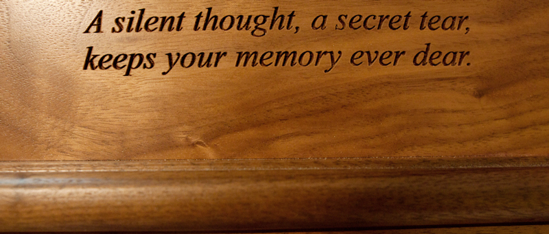 Custom Engraved Urn Inscription