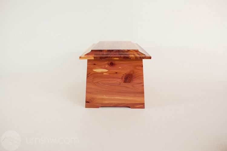 Wood Cremation Urn in Cedar