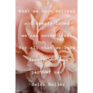 Funeral Poetry - Helen Keller