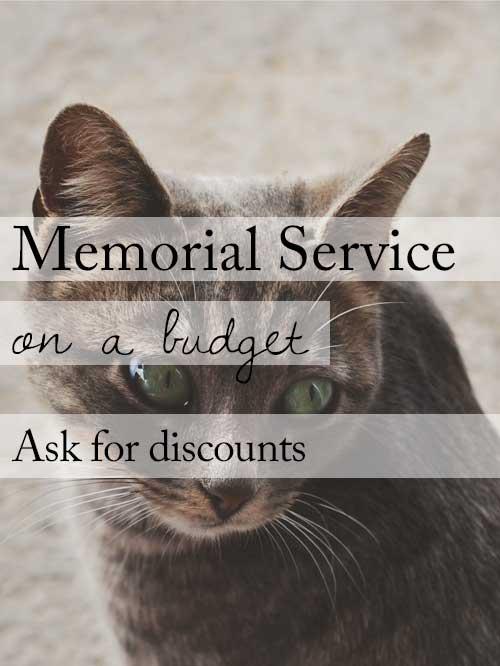 Budget friendly memorial service ideas