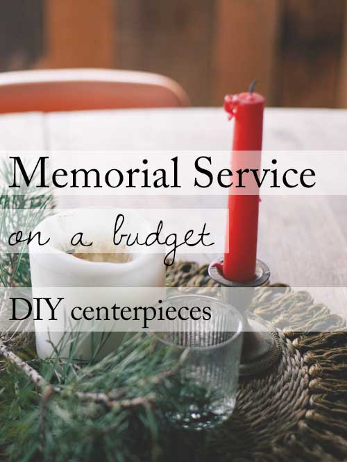 Memorial Service Reception on a Budget