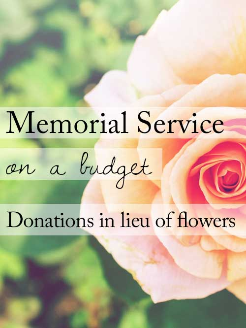 Ask for donations instead of flowers