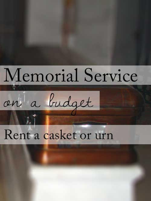 15 ideas for a beautiful memorial service on a budget rent a casket or cremation urn solutioingenieria Choice Image