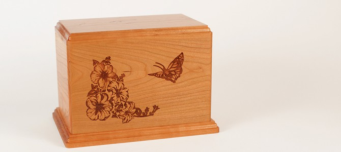 Video: Laser Carved Butterfly Cremation Urn