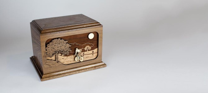 Riding Home: The Bicycle Cremation Urn with Inlay Art