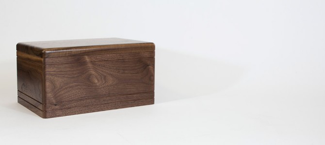 360° View of a Gorgeous Walnut Wood Cremation Urn