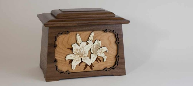 Remembering Your Sweet Lily: The Lilies Urn with Inlay Art