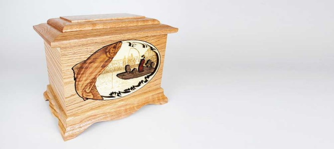 Salmon Fishing Cremation Urn made in the Pacific Northwest