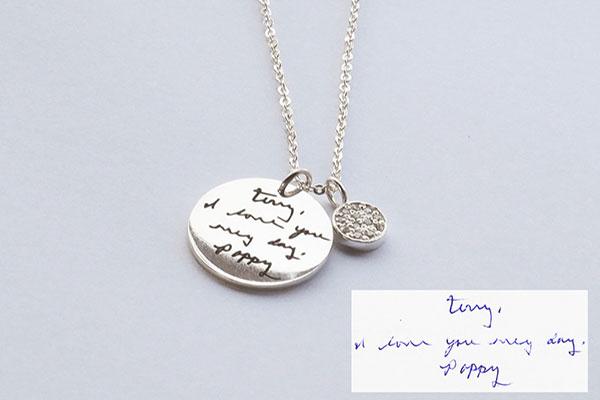 Custom Made Memorial Note Necklace