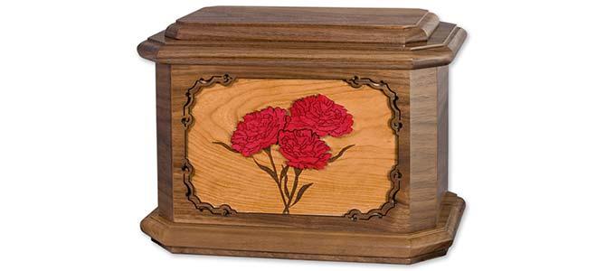 Carnations Flower Cremation Urn