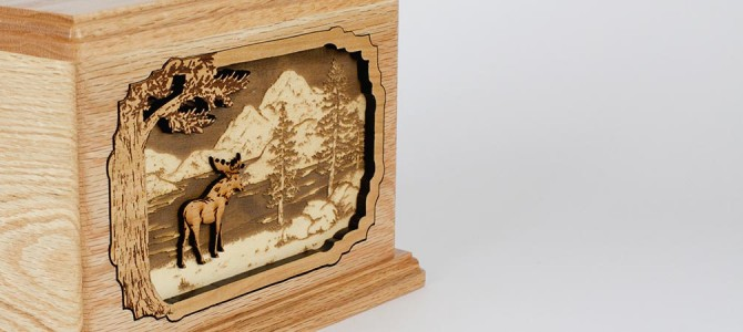 Moose in the Forest Cremation Urn (Video)