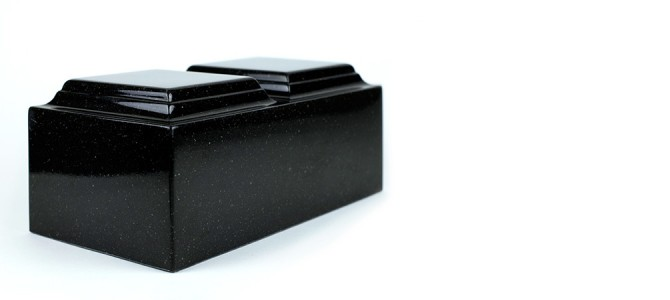 Engrave photos & more on our Black Granite Companion Urn