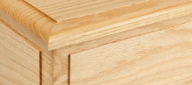 A Beautiful Oak Wood Cremation Urn