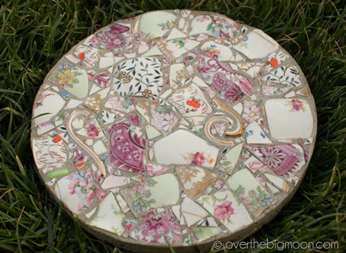 Broken Dishes Memorial Stepping Stone