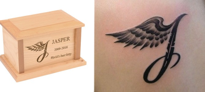 How to get a memorial tattoo & matching cremation urn
