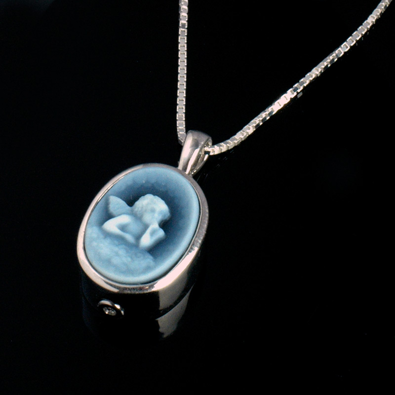 Premium sterling silver cremation jewelry urns online sterling silver memorial necklace mozeypictures Images