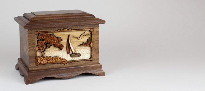 """Soft Breezes"" Sailing Art Cremation Urn"
