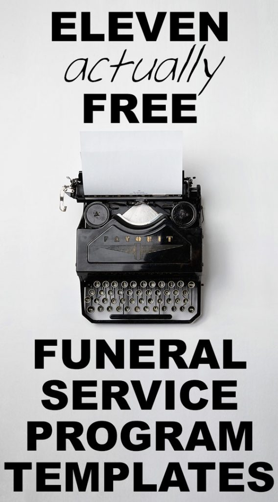 Funeral Service Outlines  Free Printable Memorial Service Programs