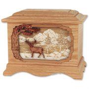 deer-cremation-urn-inlay-art-oak-wood-whitetail