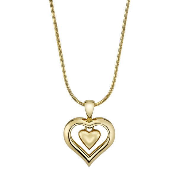 Eternity heart cremation ashes necklace with 18k gold finish mozeypictures Images