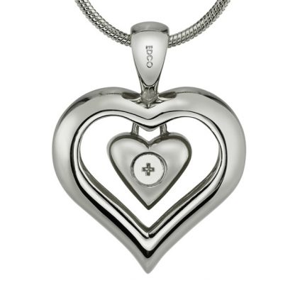 Easy fill cremation jewelry heart pendant