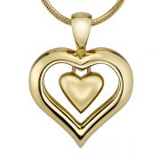 Gold Finish Heart Cremation Jewelry