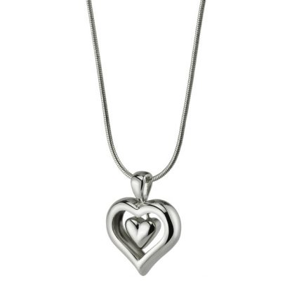 Cremation Jewelry - Silver Heart
