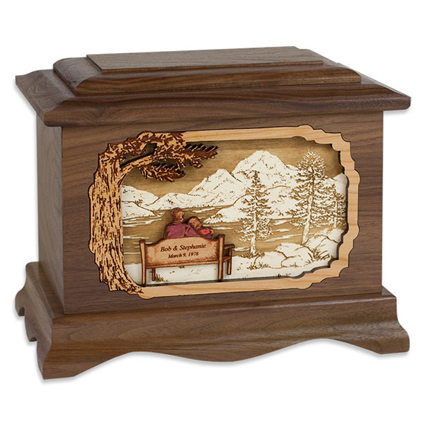 Soulmates Wooden Cremation Urn