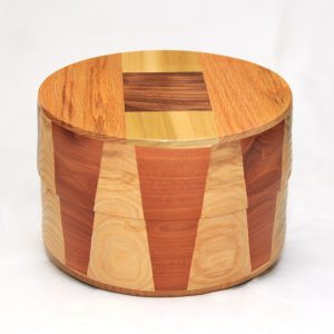 Oak, Cedar, and Goncalo Alves Cremation Urn