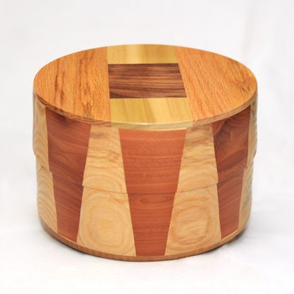 Circular Wood Cremation Urns