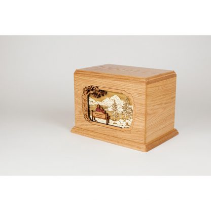 Gorgeous wood urn for two people