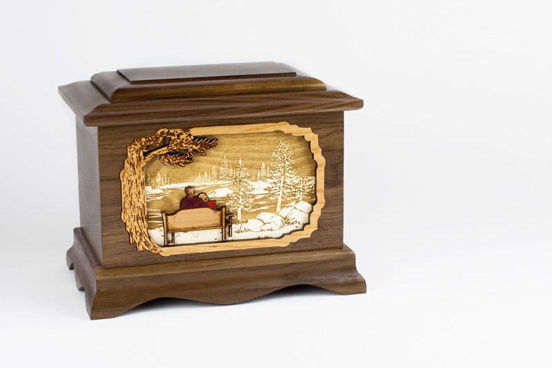 Wooden Great Lakes Urn