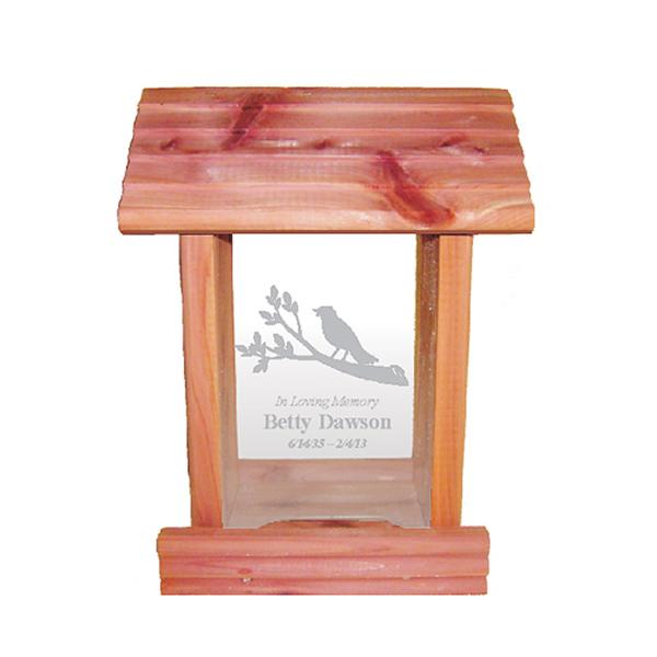 Cedar Bird Feeder Memorial Gift