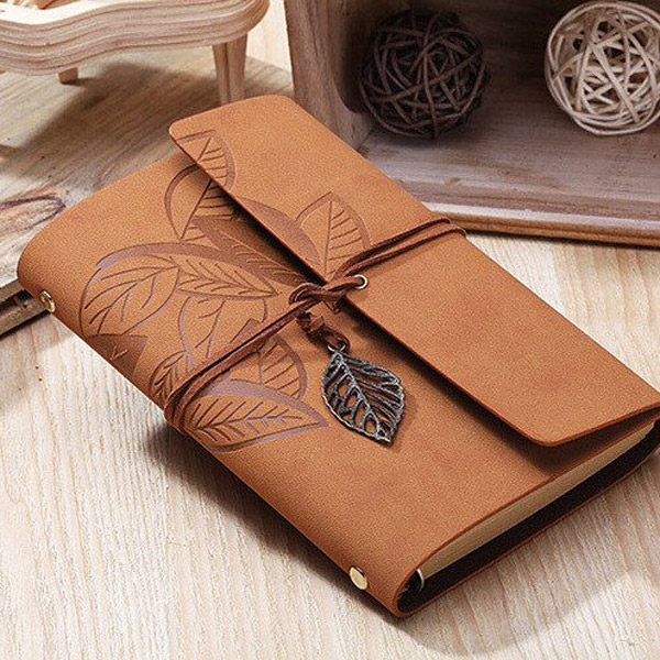 Take A Leaf Out of My Rustic Leather Memory Journal