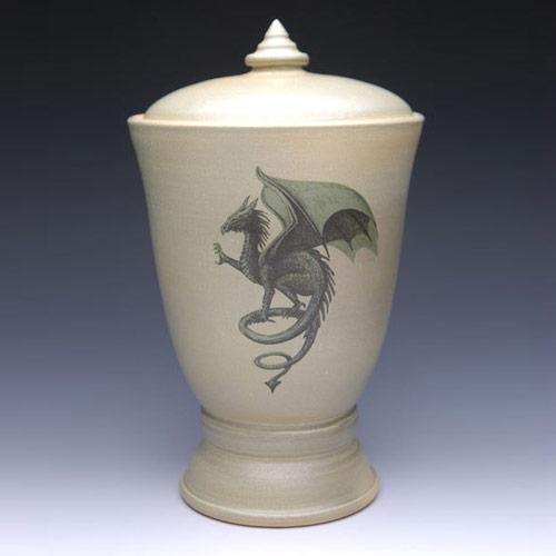 Handmade ceramic funeral urns