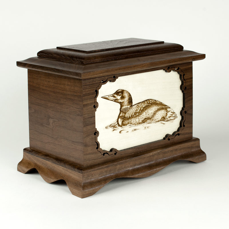 Wood Cremation Urn for Memorials in Minnesota