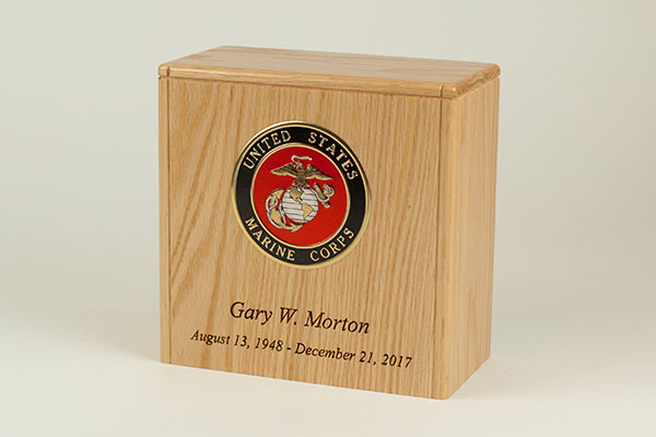Wood urns made in the USA