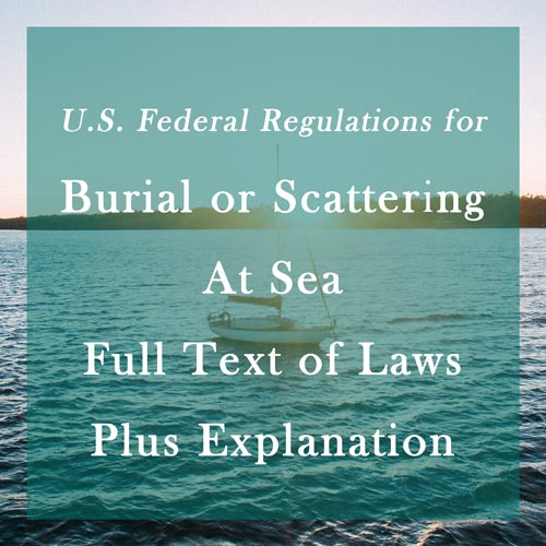 Laws about Burial at Sea