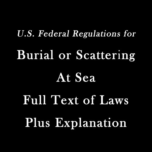 Water Burial or Scattering - Laws & Regulations
