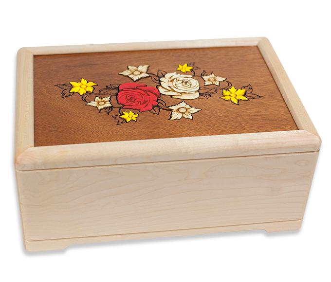 Inlay Art Flower Cremation Urns