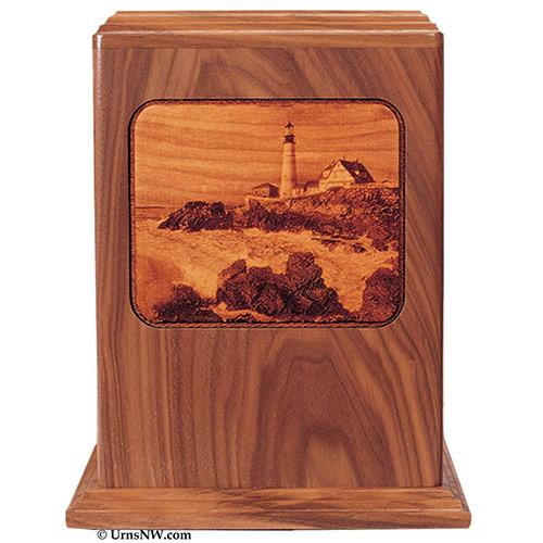Wood Lighthouse Urns