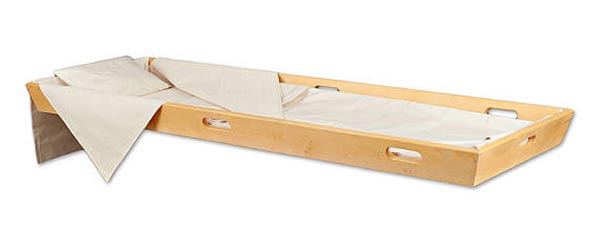Shroud and Pine Carrier for Natural Burial